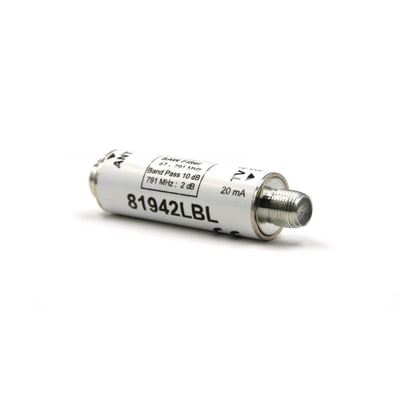 Antenna UHF 5 elementi, guadagno 14 dBi con filtro LTE integrato (470-790 MHz)